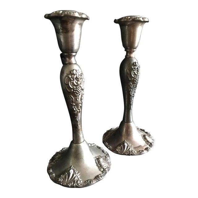 Vintage Godinger Silverplate Candlesticks - A Pair - Image 1 of 5