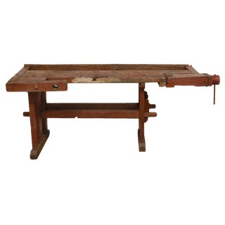 Antique Hungarian Craftsman's Workbench For Sale