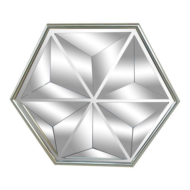 1970s Mid Century Modern Pyramid Mirror For Sale
