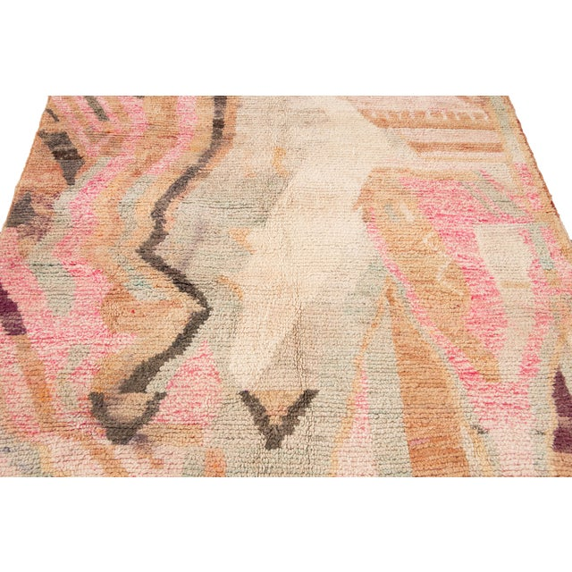 Vintage Azilal Moroccan Wool Rug For Sale - Image 10 of 13