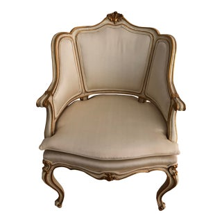 Mid 20th Century Karges Louis XV Rococo Style Bergere For Sale