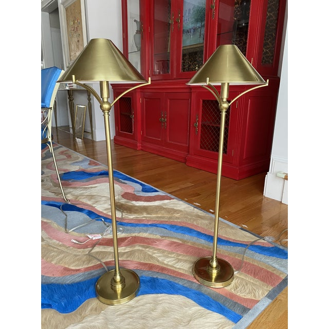 Brass Candlestick Table Lamps - a Pair For Sale - Image 10 of 10