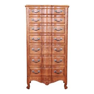 John Widdicomb French Provincial Louis XV Carved Oak Semainier For Sale