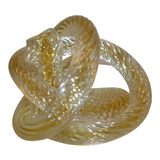 Zanetti Murano Glass Spiral Twisted Love Knot For Sale