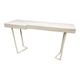 Baker Milling Road Contemporary Marble Top Console Table For Sale