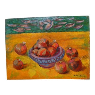 """""""Pomegranates"""" Still Life Oil Painting by Anders Aldrin For Sale"""