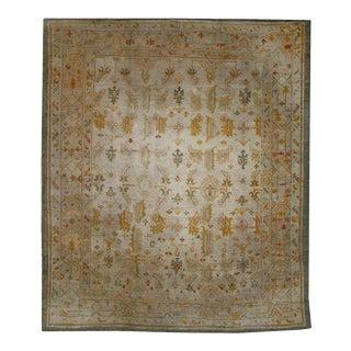 Late 19th Century Antique Turkish Oushak Angora Wool Rug, 07'04 X 09'00 For Sale