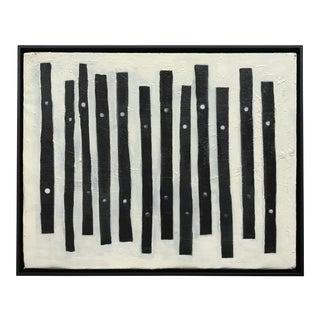 Zahn 2007 Frame Black & White Oil Abstract