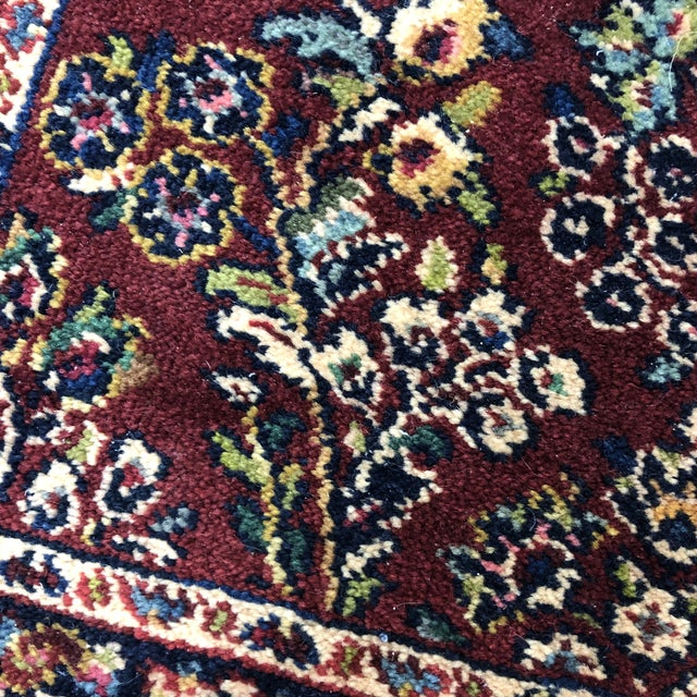 2ft6in × 5ft2in Karastan Red Sarouk Area Rug For Sale - Image 9 of 13