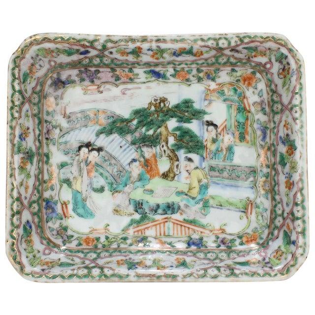 Antique Chinese Export Porcelain Famille Verte Bowl For Sale - Image 13 of 13