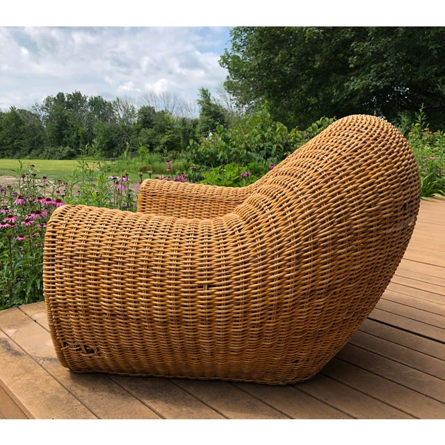 Late 20th Century Vintage Wicker Orb Chair For Sale - Image 5 of 13