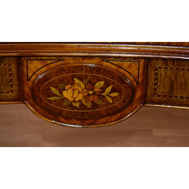 1900s Antique French Louis XVI Satinwood & Walnut Inlay Vanity For Sale In Philadelphia - Image 6 of 13