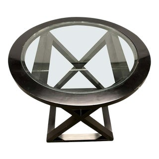 Hollywood Regency Style X Base Center or End Table For Sale