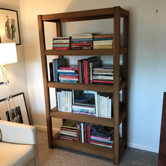 Custom Made Tall Parsons Style Rectangular Bookcase For Sale - Image 10 of 10