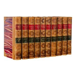 1860s British Poets Little, Brown & Company Books - Set of 10 For Sale