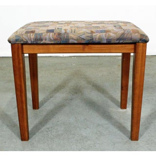 Mid-Century Danish Modern Teak Vanity Stool by Pbj Mobler Preview