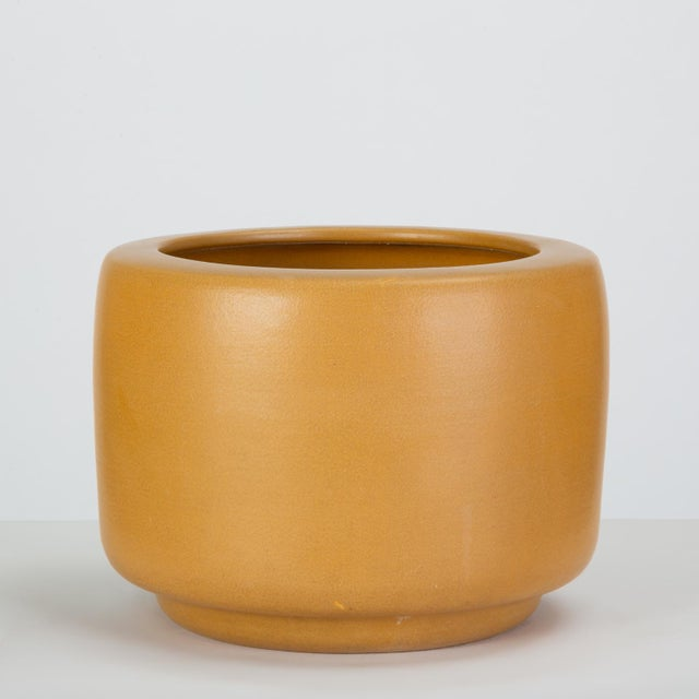 Cp-13 Tire Planter in Yellow Glaze by John Follis for Architectural Pottery For Sale In Los Angeles - Image 6 of 10