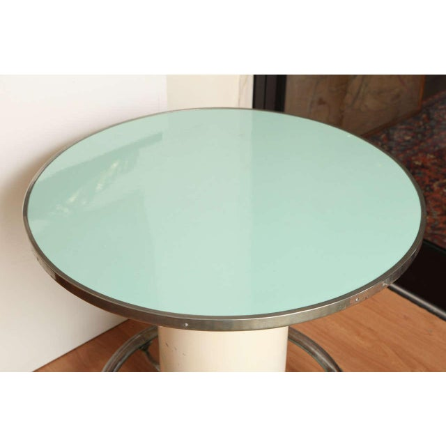 Modern Maison Leleu Modernist Round Table For Sale - Image 3 of 7