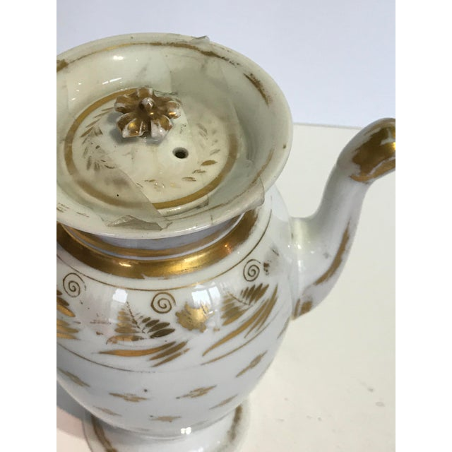 Traditional Vintage French Old Paris Coffee Pot For Sale - Image 3 of 6