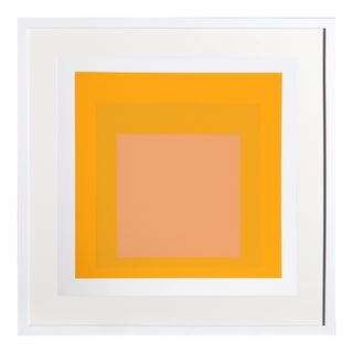 Josef Albers - Portfolio 1, Folder 15, Image 2 Framed Silkscreen For Sale