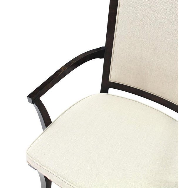 Early 20th Century Set of Six Mid-Century Modern Mastercraft Dining Chairs With New Upholstery For Sale - Image 5 of 10