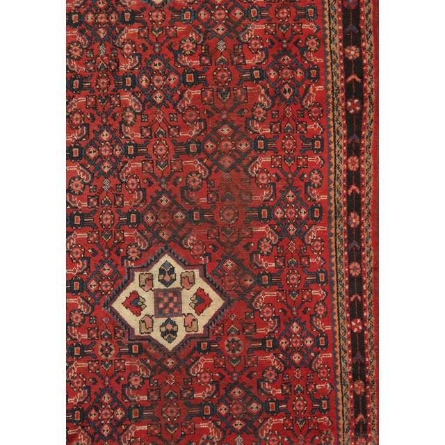 """Vintage Hamadan Wool Area Rug - 4'2"""" X 10'2"""" - Image 2 of 3"""