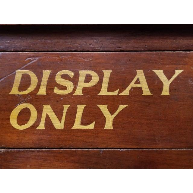 Wood Vintage English Mahogany Clock Repair Bench / Desk For Sale - Image 7 of 10
