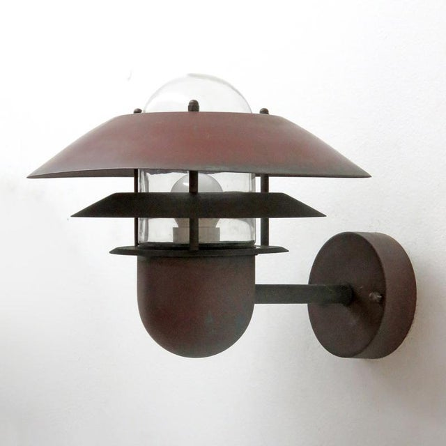 Nordlux Danish Outdoor Wall Lights - a Pair For Sale - Image 4 of 11