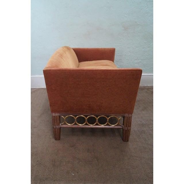 McGuire McGuire Laura Kirar Rattan Base Sofas - Pair For Sale - Image 4 of 10