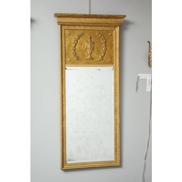 Neoclassical 1970s Vintage Giltwood Neoclassical Style Mirrors- A Pair For Sale - Image 3 of 8