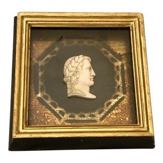 Italian Grand Tour Plaster Intaglio Portrait and Gilt Frame For Sale