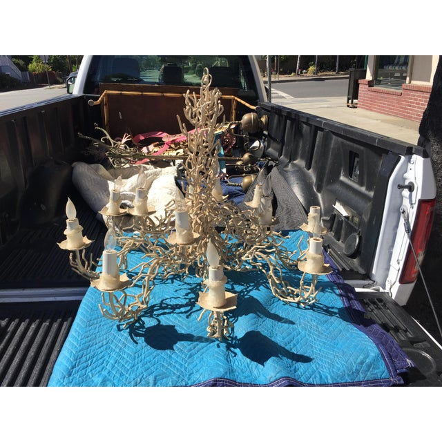 "Fantastic Vintage Bruce Eicher Chandelier in excellent condition. This large vintage chandelier measures 42"" wide x 31""..."