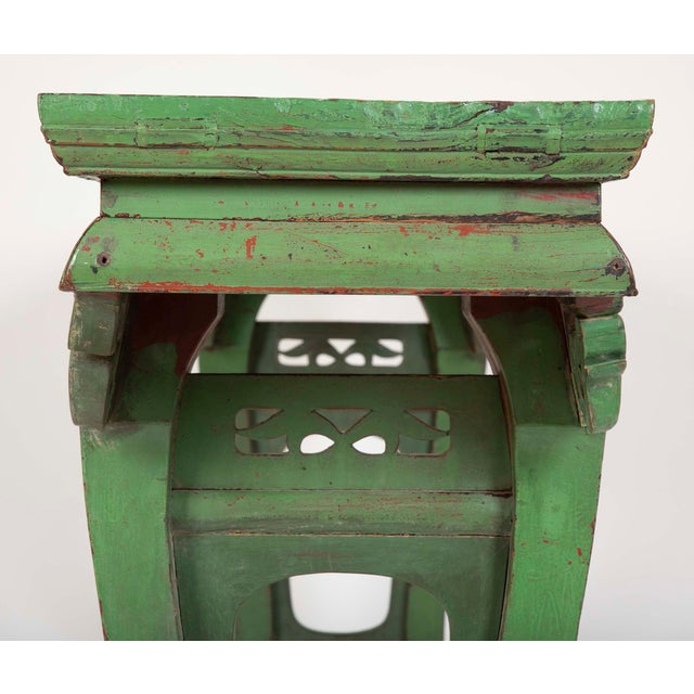 Asian Green Painted Chinese Console Table, Large Scale For Sale - Image 3 of 13