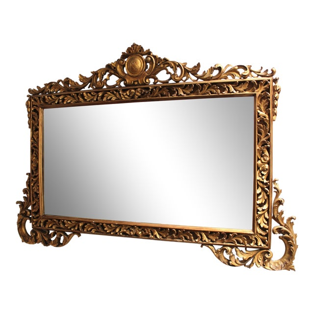 Antique French Gilt Rectangular Mirror For Sale