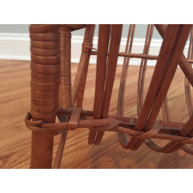 Vintage Bamboo & Rattan Magazine Holder For Sale In Raleigh - Image 6 of 8