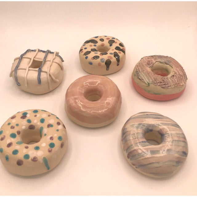 2020s Surface Ceramics Wall Donuts - Set of 6 For Sale - Image 5 of 9