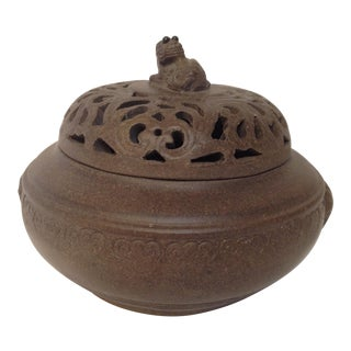 Incense Burning Dish w/Lid