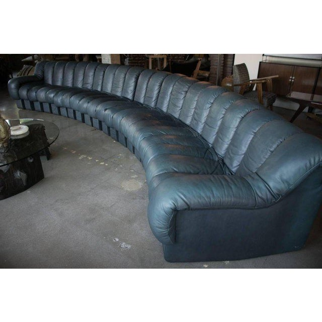 "De Sede DS-600 series ""Non-Stop"" sofa with 21 sections consisting of 19 interior pieces and one right arm and one left..."