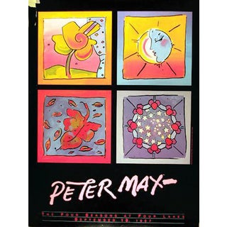 """1987 Peter Max """"Four Seasons at Four Lakes"""" Poster For Sale"""