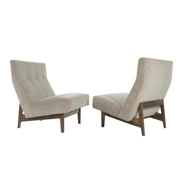 Classic Slipper Chairs by Jens Risom C. 1950s - a Pair For Sale - Image 12 of 12