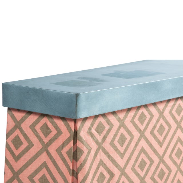 Zinc Top Console Table - Image 5 of 5
