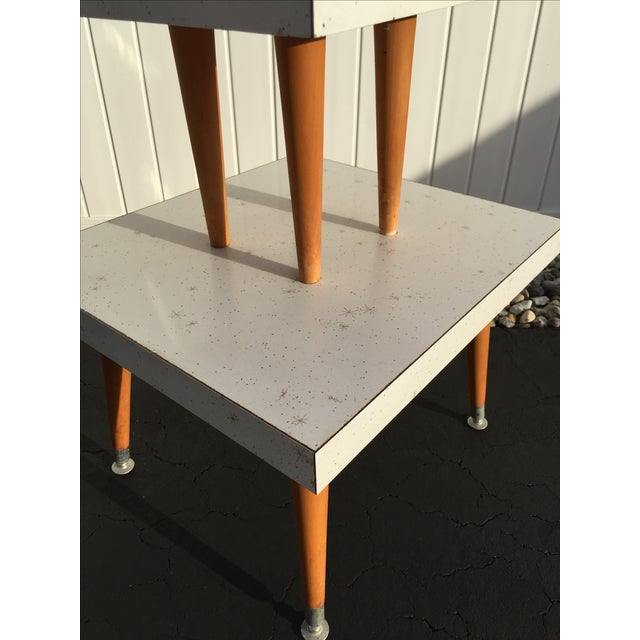 Mid-Century Two-Tier Formica Starburst Side Table - Image 6 of 8