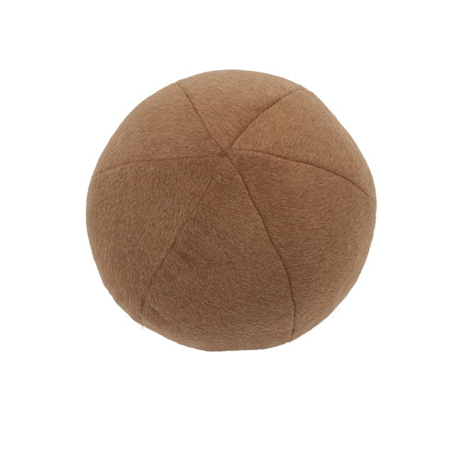 Early 21st Century Schumacher Dixon Mohair Weave Sphere Pillow in Vicuna For Sale - Image 5 of 5
