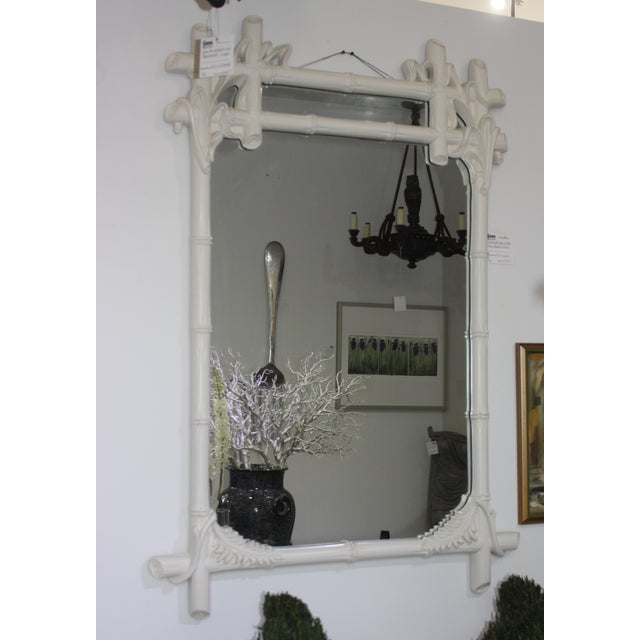 Gampel - Stoll Faux Bamboo Mirror For Sale - Image 10 of 13