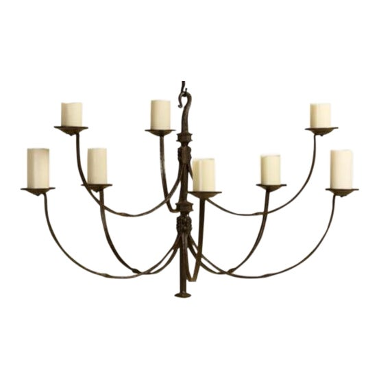 Rose Tarlow Iron Chandelier For Sale