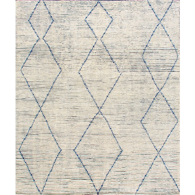 """Contemporary Stark Studio Rugs Baha Rug in Denim, 9'0"""" x 12'0"""" For Sale - Image 3 of 3"""