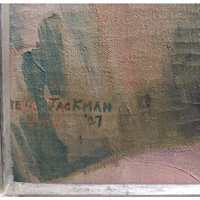 Canvas Reva Jackman -1927 Art Deco & Cubism Nude Female Portrait-Beautiful Oil Painting For Sale - Image 7 of 10