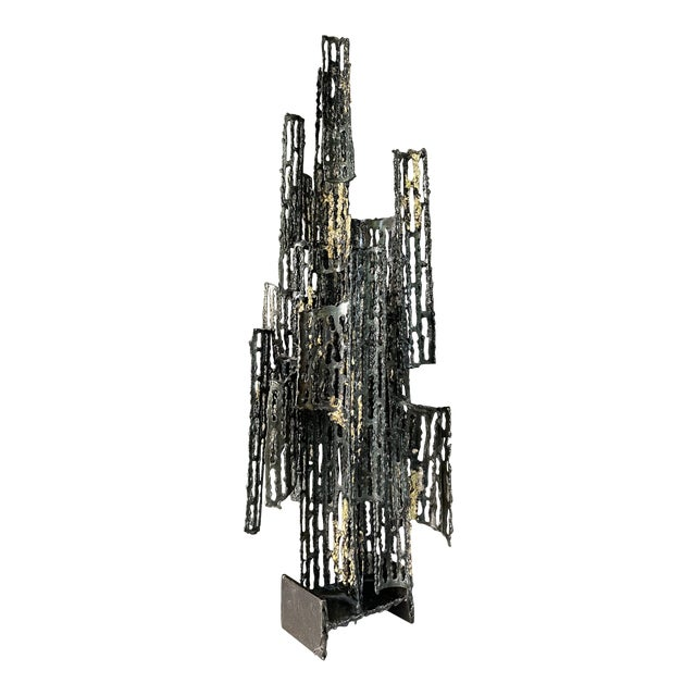 1970s Italian Brutalist Metal Sculpture by Marcello Fantoni For Sale