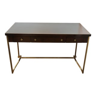 Baker Furniture Modern Desk with Leather Top For Sale