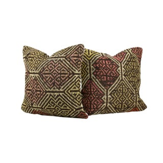 20th Century Turkish Jajim Pillow Covers - a Pair For Sale